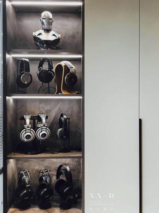 125㎡现代简约装修收纳展示柜设计