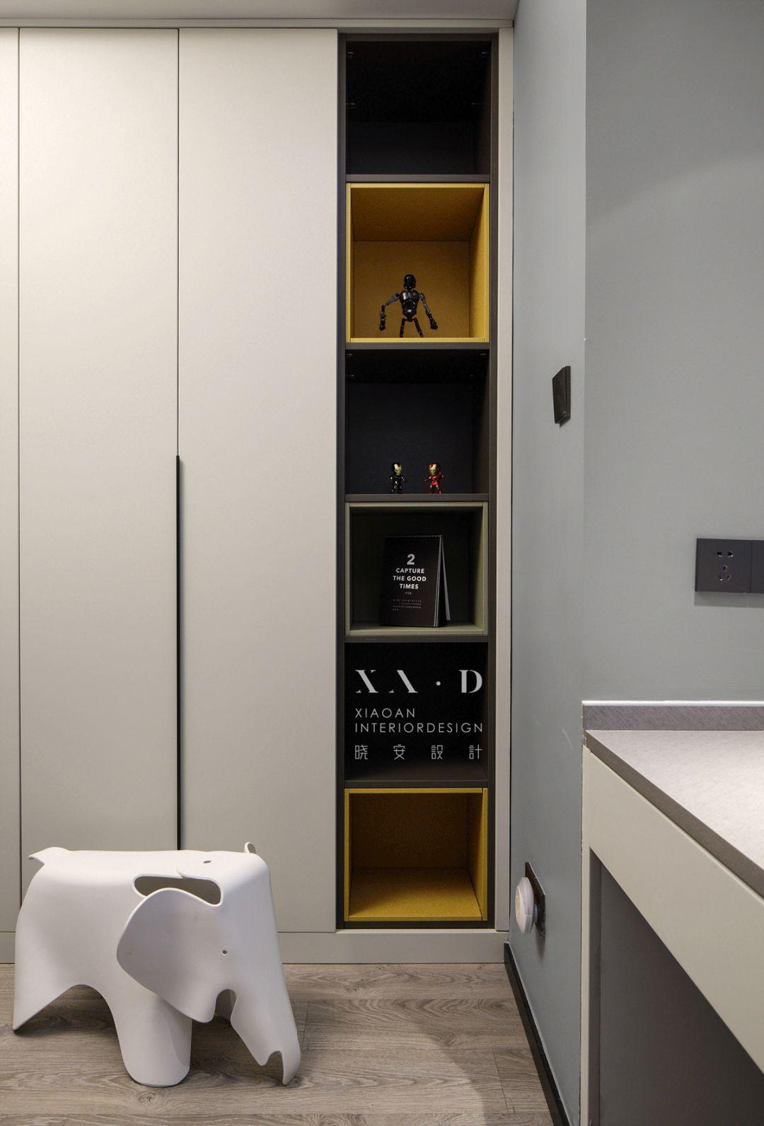 125㎡现代简约装修收纳柜设计