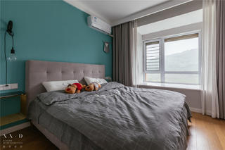 90㎡北欧三居卧室装修效果图