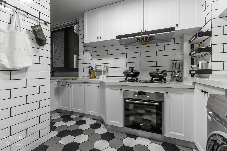 90㎡北欧三居厨房装修效果图