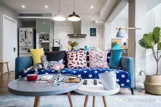 85平米一居室装修客厅沙发设计