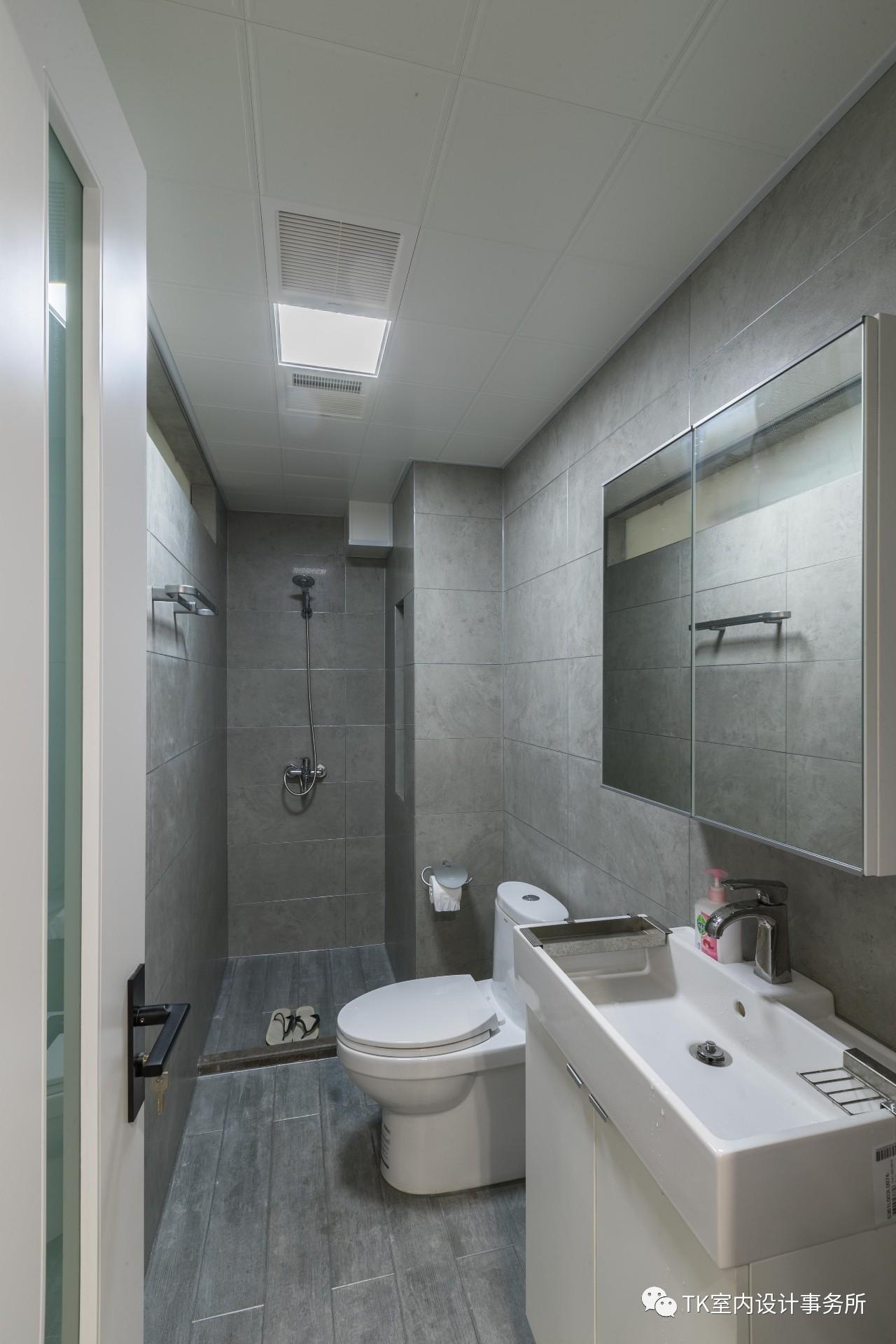 85平米一居室卫生间装修效果图