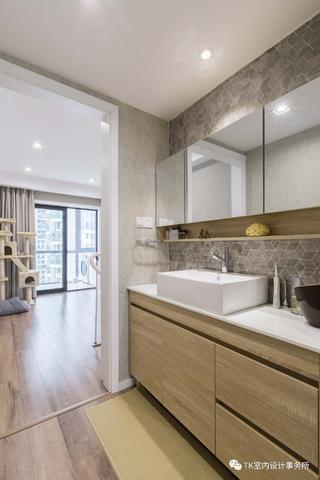 85平米一居室装修洗手台设计