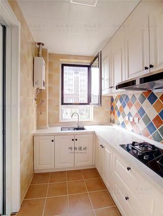 120平美式风格厨房装修效果图