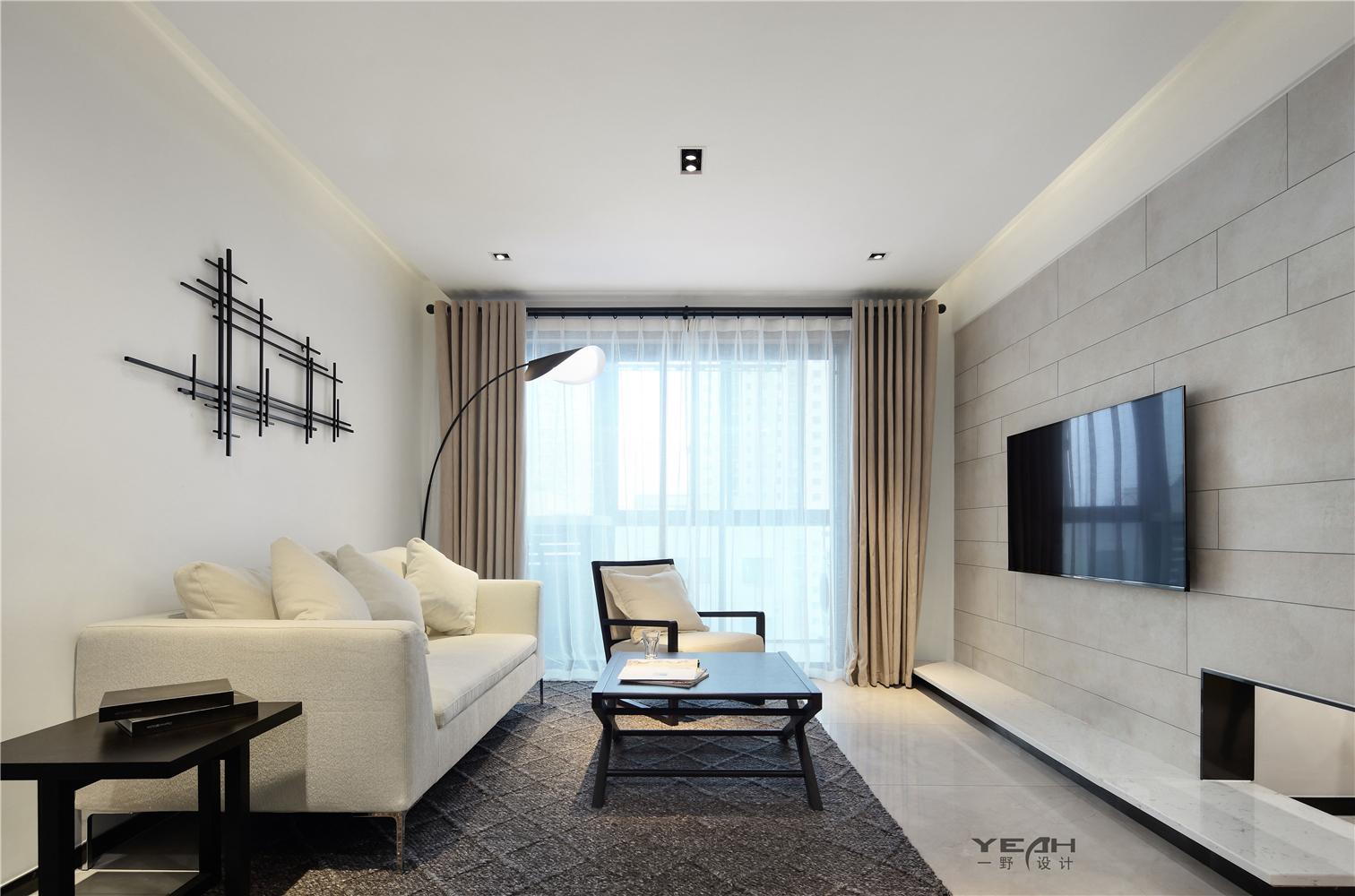 简约风格两居客厅装修效果图