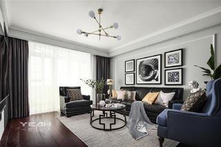 142㎡三居室客厅装修效果图
