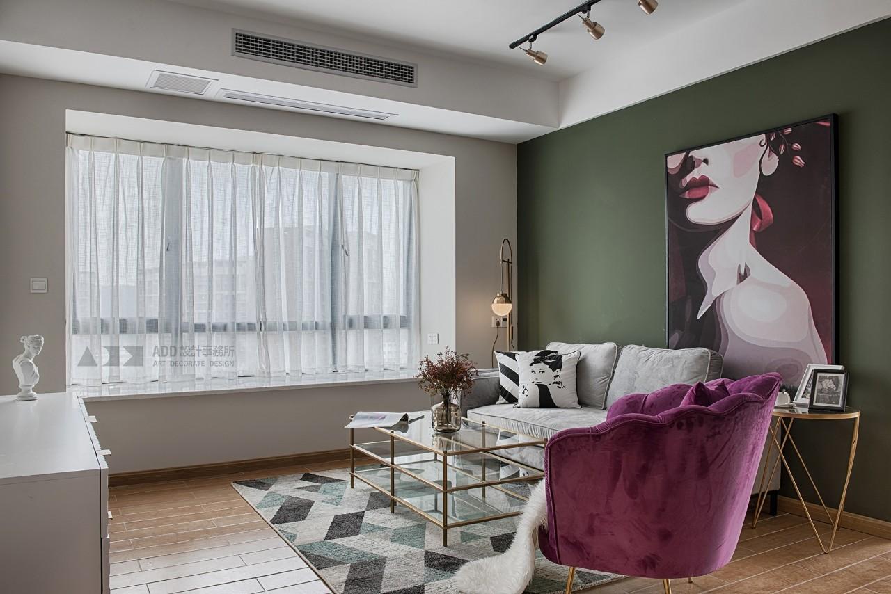 86平米两居室客厅装修效果图