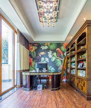 美式风别墅书房装修效果图