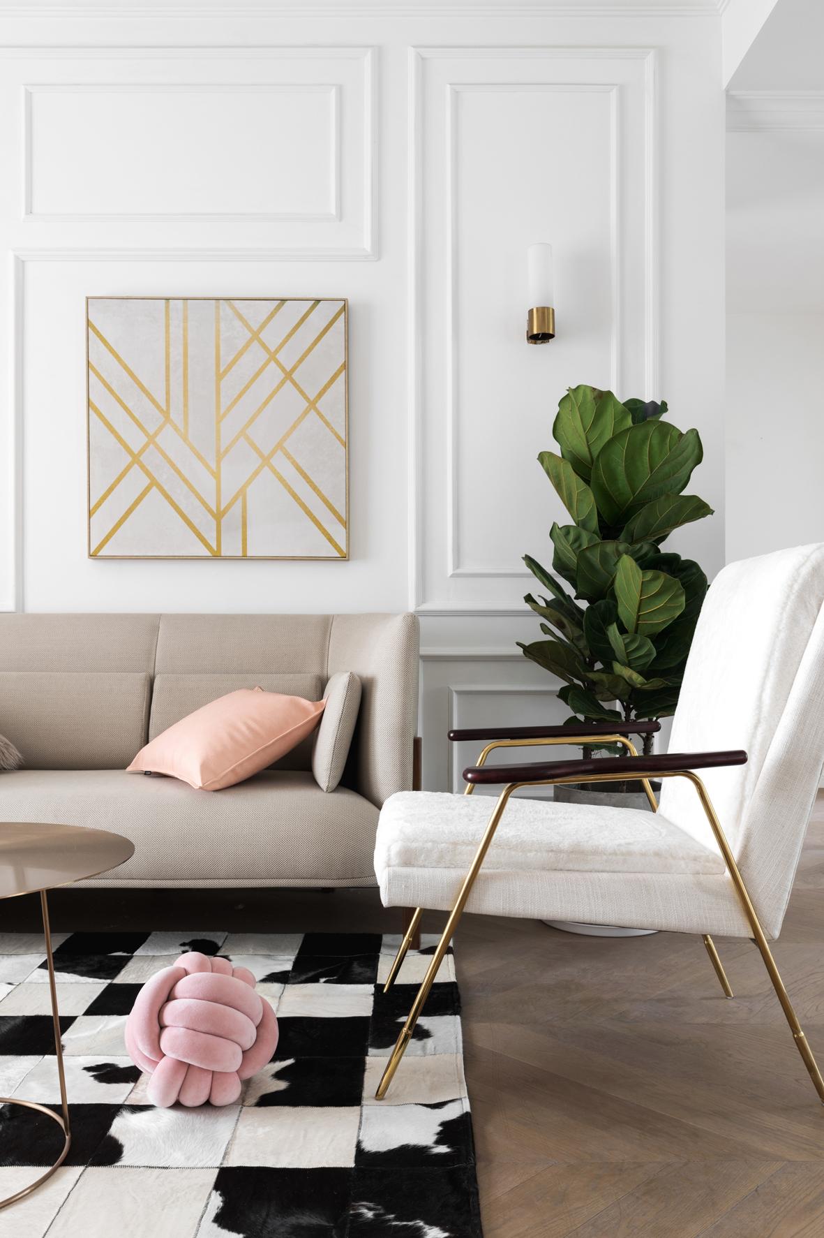116平米三居室沙发墙装修效果图
