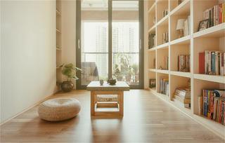 100㎡日式简约风书房装修效果图