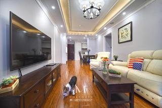 简美风格三居客厅装修效果图