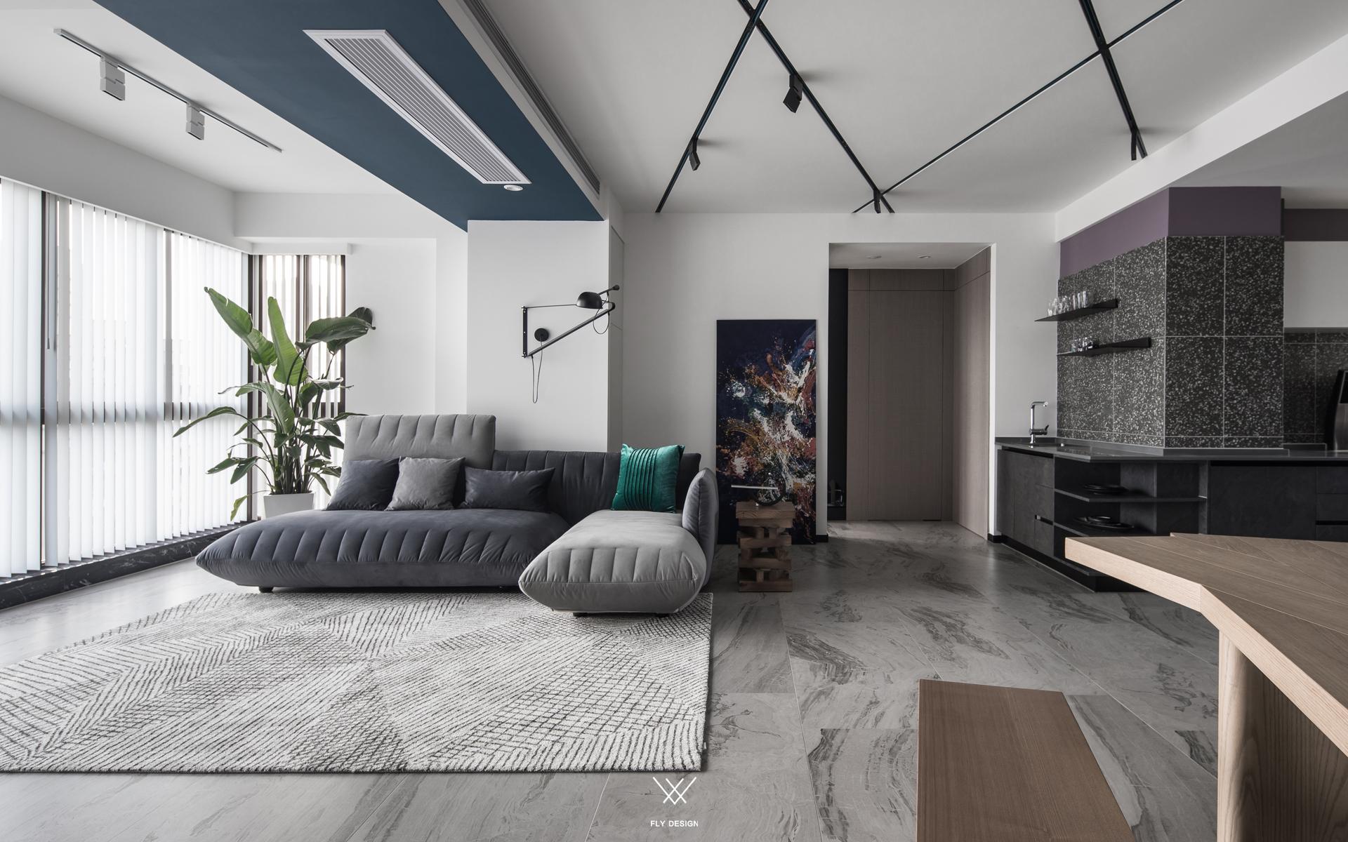 现代风两居室客厅装修效果图