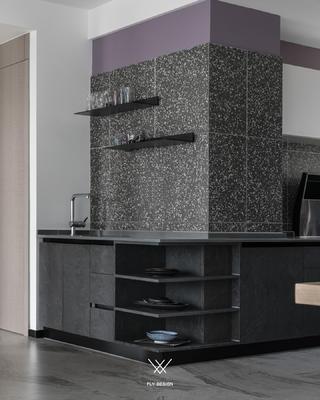 现代风两居室厨房装修效果图