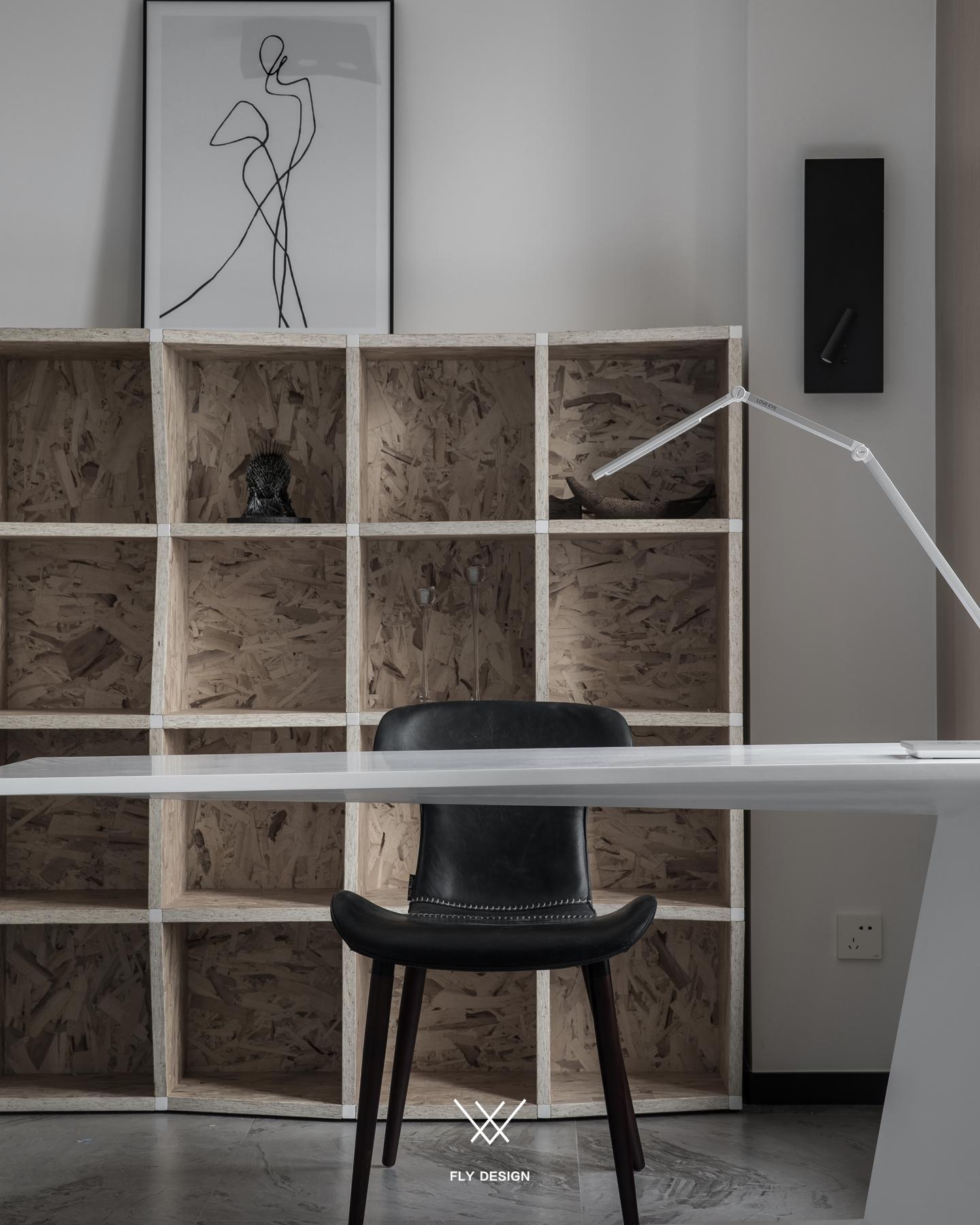 现代风两居室书房装修效果图