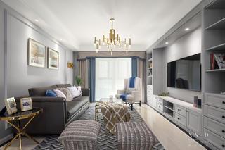 美式风格四居室客厅装修效果图