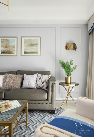 美式风格四居室装修客厅一角