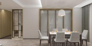 现代简约四居室餐厅装修效果图
