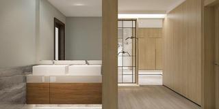 现代简约四居室装修洗手台设计