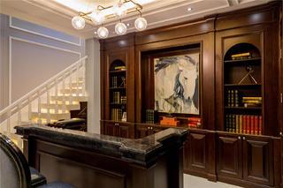 大户型美式风格书房装修效果图
