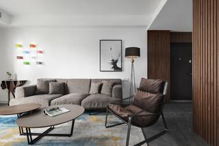 现代简约风三居沙发背景墙装修效果图