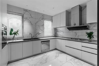 现代简约别墅厨房装修效果图