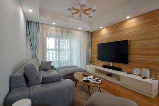 70㎡两居室客厅电视墙装修效果图