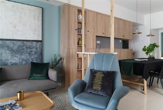 150平北欧风装修客厅一角