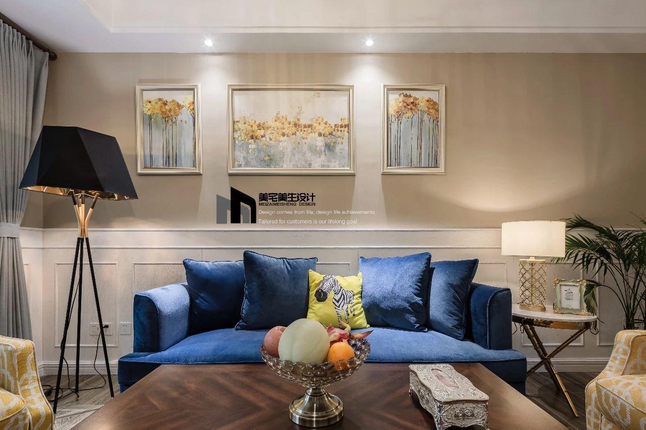美式风格两居室沙发墙装修效果图
