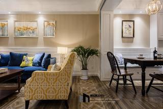 美式风格两居室装修客餐厅一角