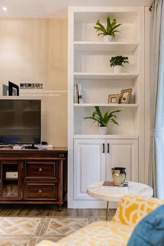 美式风格两居室装修电视墙一角