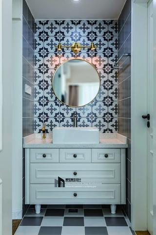 80㎡美式风格装修洗手台设计