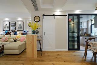 美式风格二居室装修吧台设计