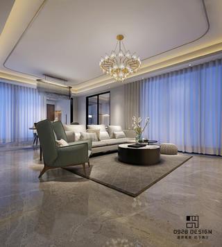 现代轻奢三居客厅装修效果图