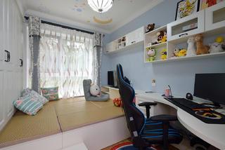 美式风格二居室榻榻米书房装修效果图