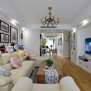 美式风格二居室装修效果图