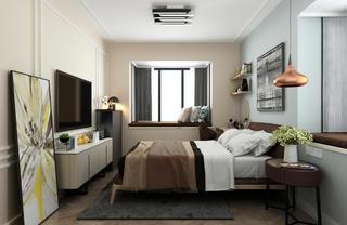 80㎡二居卧室装修效果图