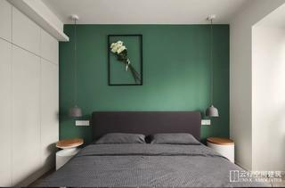 118㎡北欧三居床头背景墙装修效果图