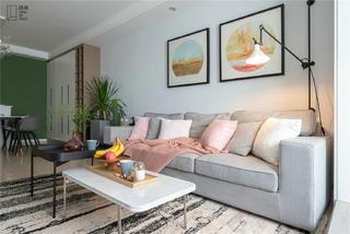 85㎡北欧三居装修客厅沙发设计