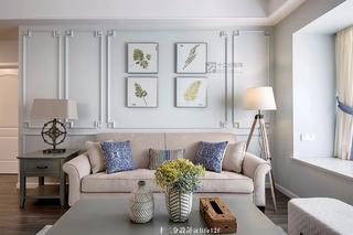 87平米三居室沙发背景墙装修效果图