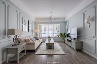 87平米三居室客厅装修效果图