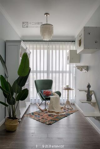 87平米三居室书房装修效果图