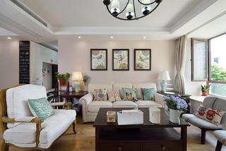 美式风格四房沙发背景墙装修效果图