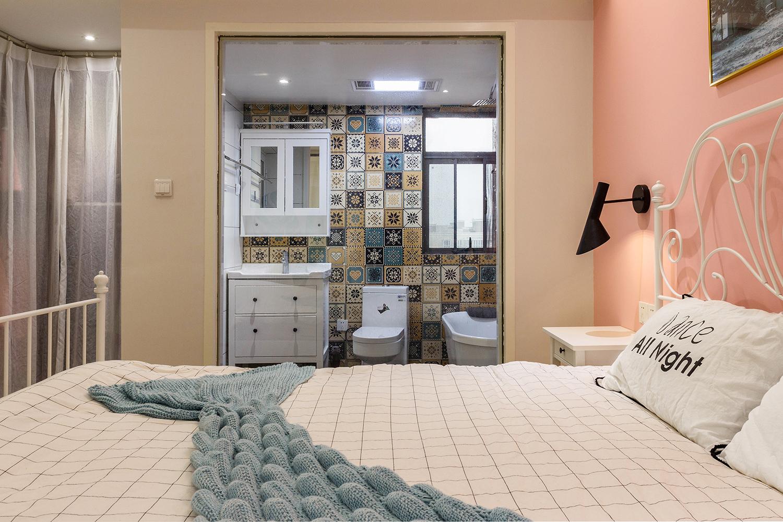 100平北欧风格卧室卫生间装修效果图