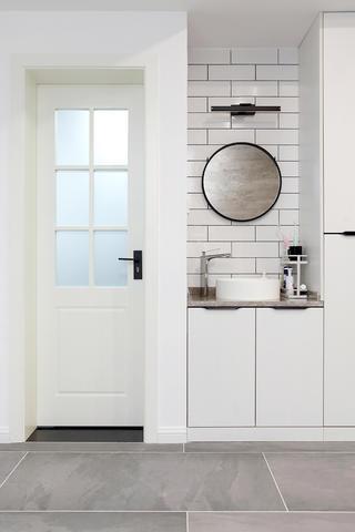 混搭风格两居装修洗手台设计