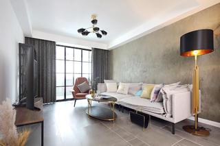 混搭风格两居客厅沙发墙装修效果图