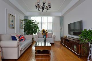 美式风格三居室客厅每日首存送20