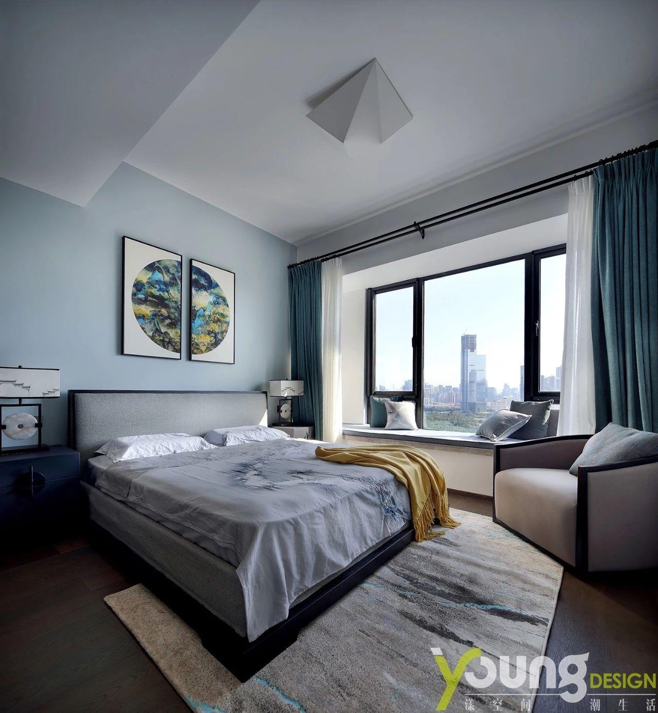 190平新中式卧室装修效果图