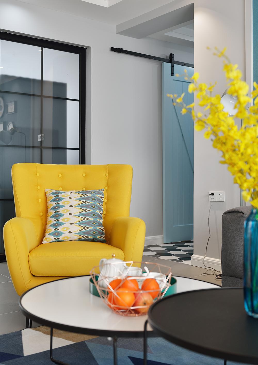 86㎡北欧风格装修沙发椅设计
