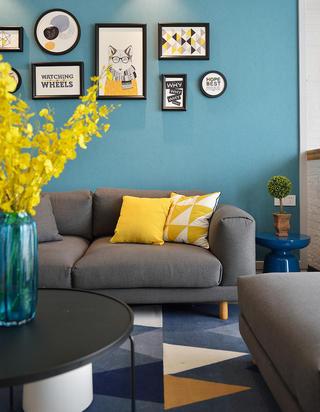 86㎡北欧风格装修客厅沙发设计
