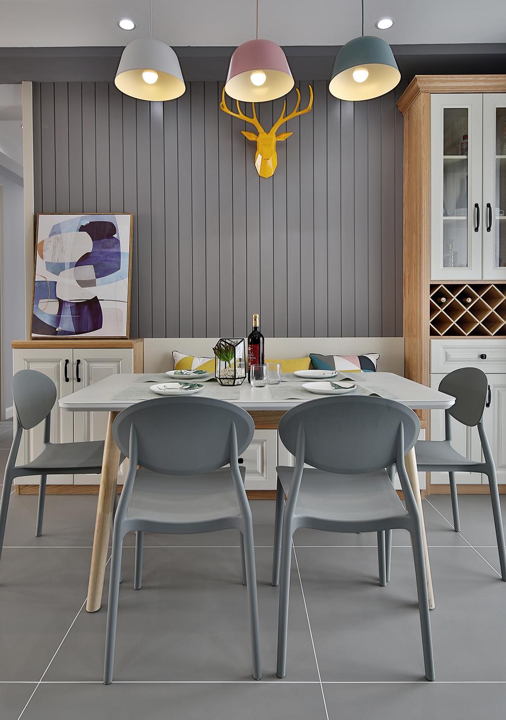 86㎡北欧风格餐厅装修效果图